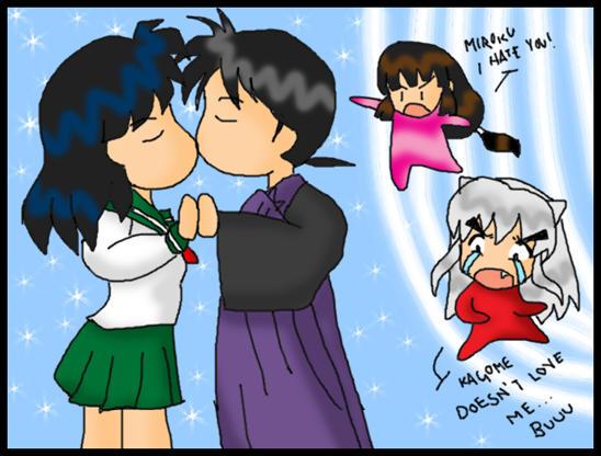 Kagome kissing... O_O by Miroku-Houshi on DeviantArt