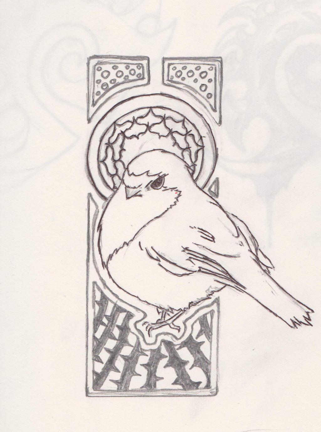 ... Lonely Little Robin (Tattoo Design) By JLMaze