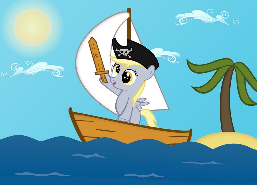 Derpy the Pirate by theirishbronyx
