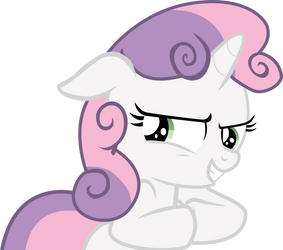 Vector: Mischievous Sweetie Belle by theirishbronyx