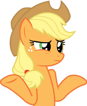 Applejack Vector: Does it look like I care?