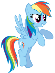 Rainbow Dash vector: The six color speedster