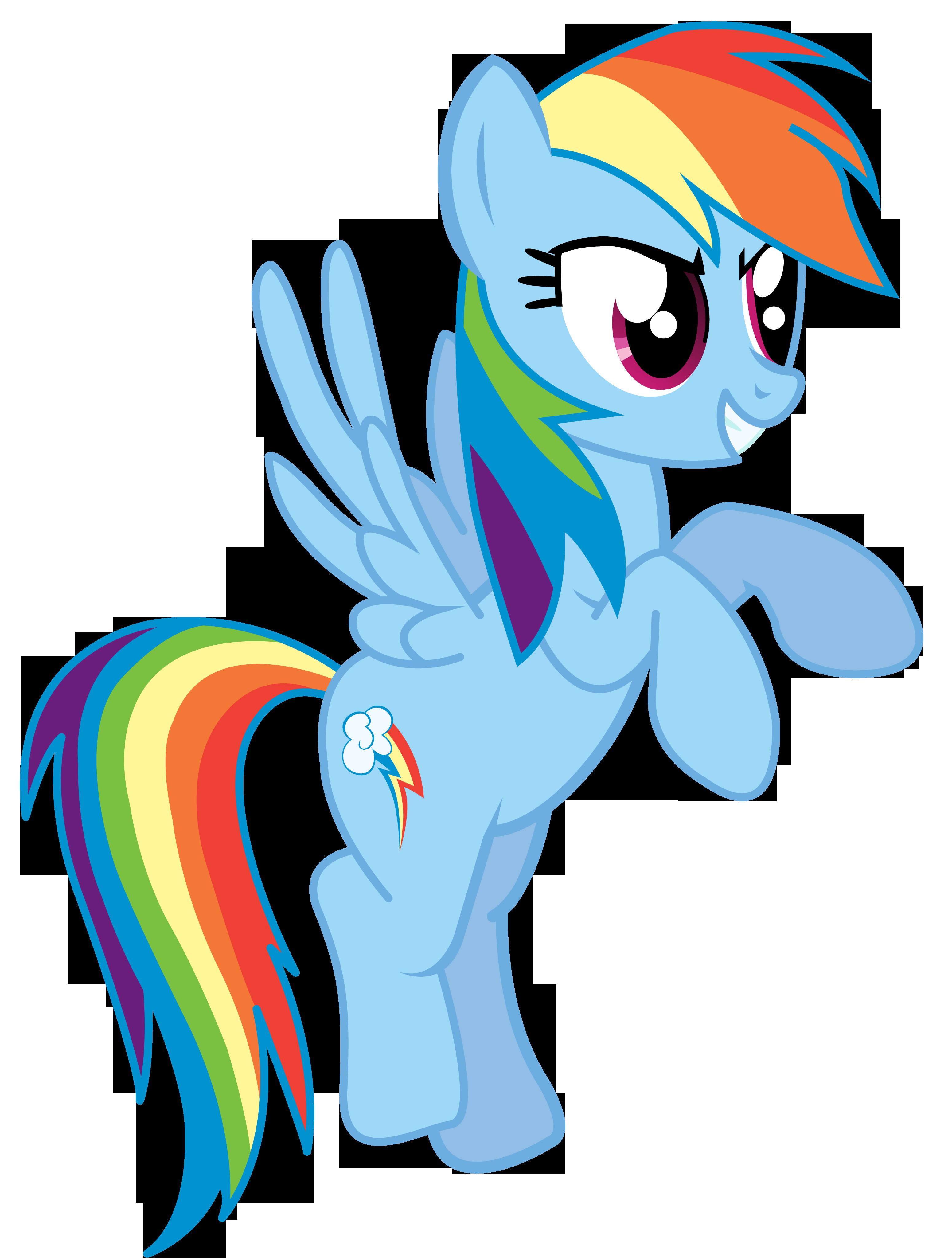 Rainbow Dash vector The six color speedster by theirishbronyx on