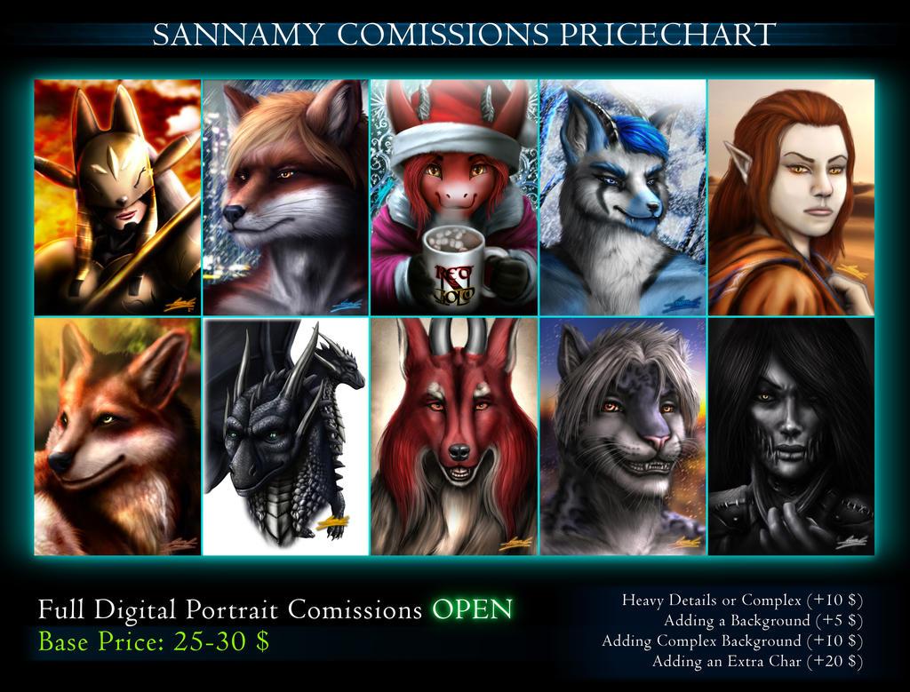 Portrait Commissions OPEN! by sannamy