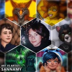 Art vs Artist by sannamy