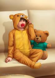 Shy Bear (Pacifier Version) by sannamy