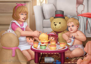 Too big for little tea party