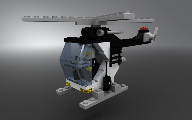 Lego police helicopter by zpaolo