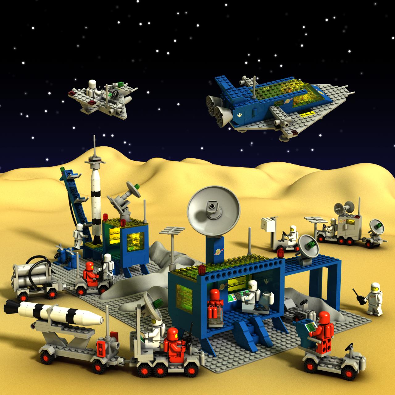 lego classic space scene 1zpaolo on deviantart