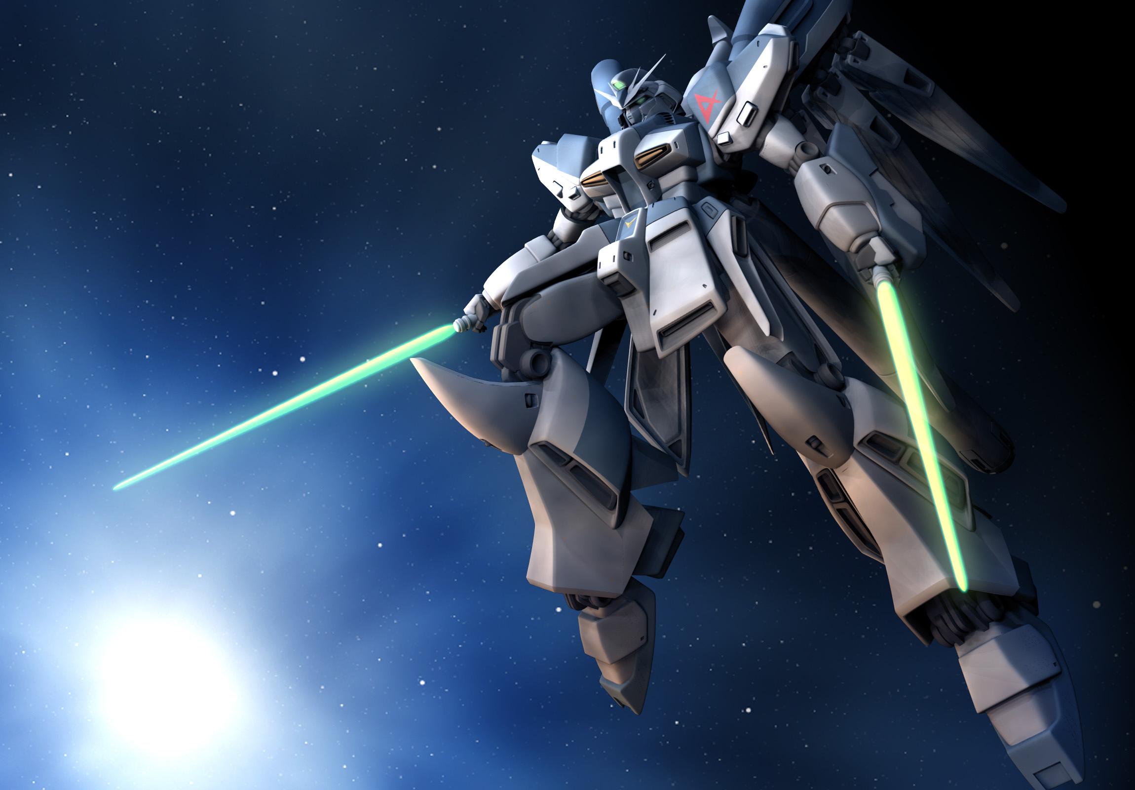 Hi-Nu Gundam Space Saber by zpaolo on DeviantArt
