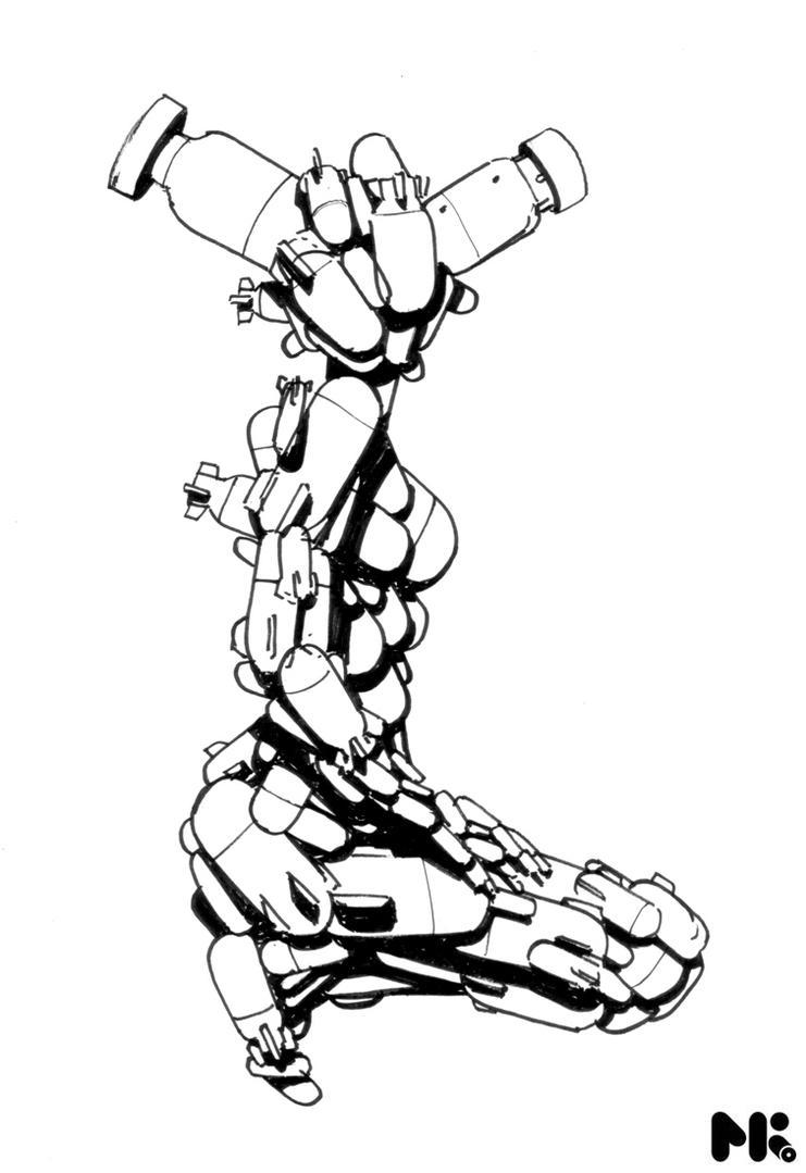 Love Chains Rockets Sketch by michaelkutsche