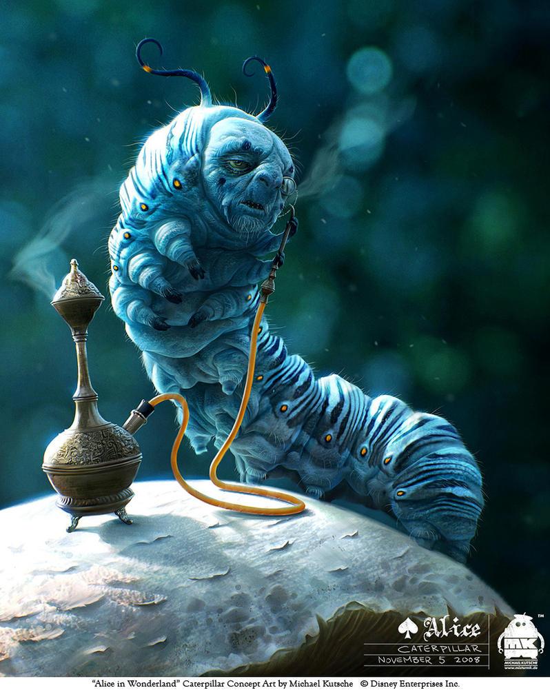 Alice - Caterpillar by michaelkutsche