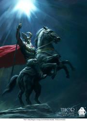 Thor - Odin and  Sleipnir by michaelkutsche