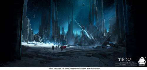 Thor - Arrival in Jotunheim by michaelkutsche