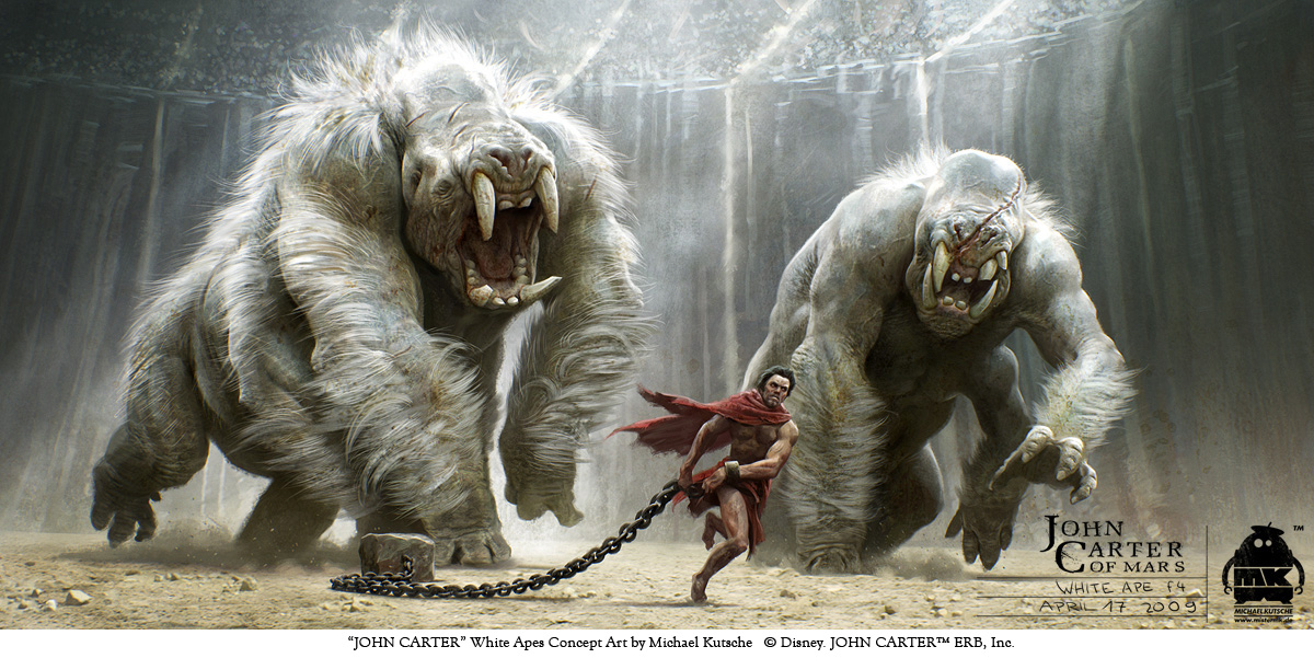 John Carter - White Apes Key Frame by michaelkutsche