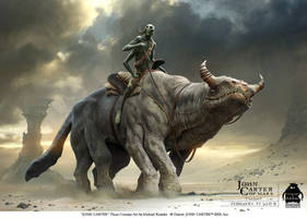 John Carter - Thoat Concept Art