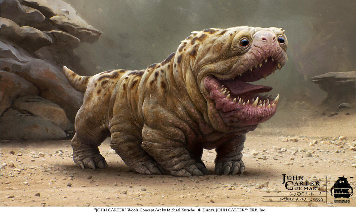 John Carter - Woola Concept Art by ~michaelkutsche