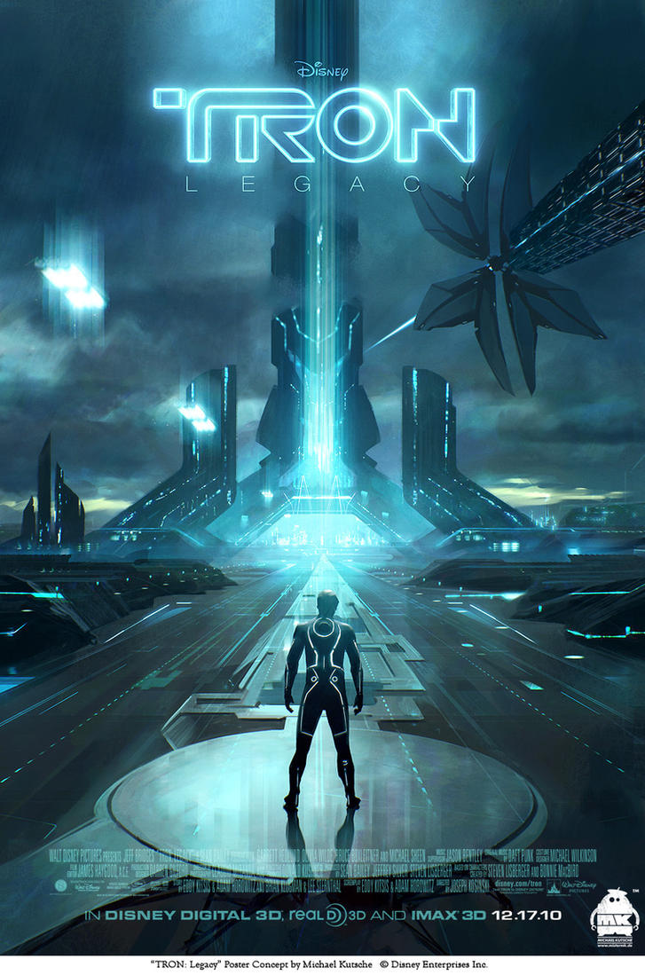 TRON: Legacy Poster Concept by michaelkutsche