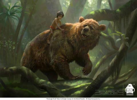 The Jungle Book: Baloo and Mowgli concept
