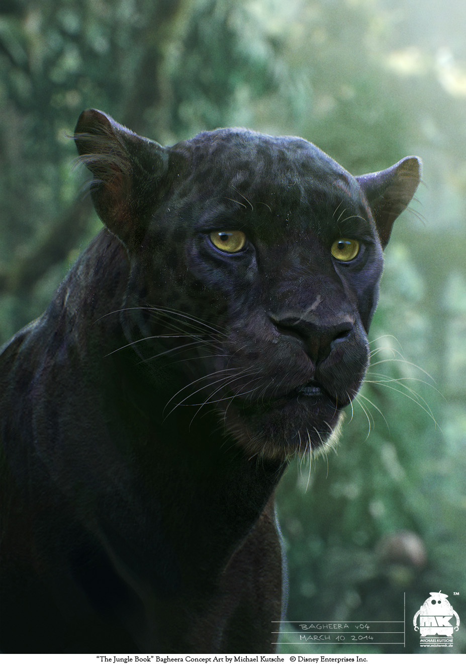 The Jungle Book: Bagheera concept by michaelkutsche on ...