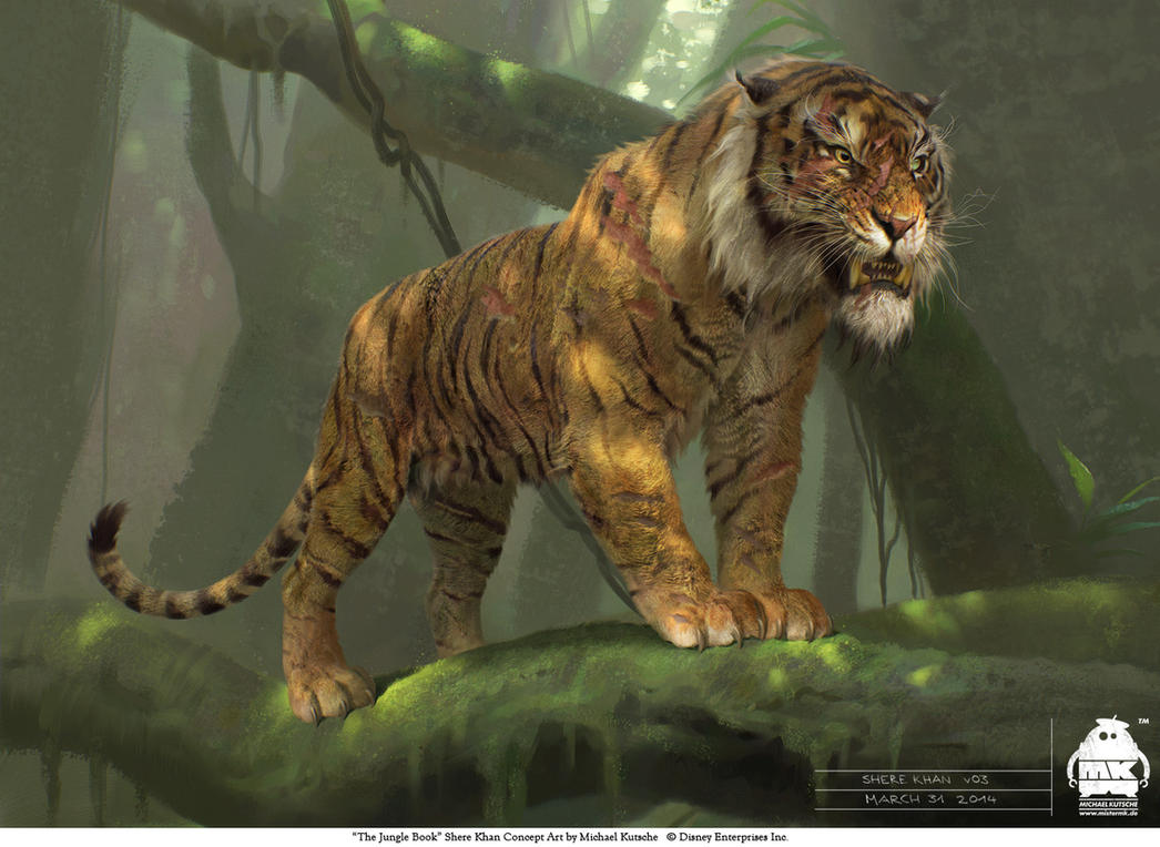 list of synonyms and antonyms of the word: jungle book shere khan