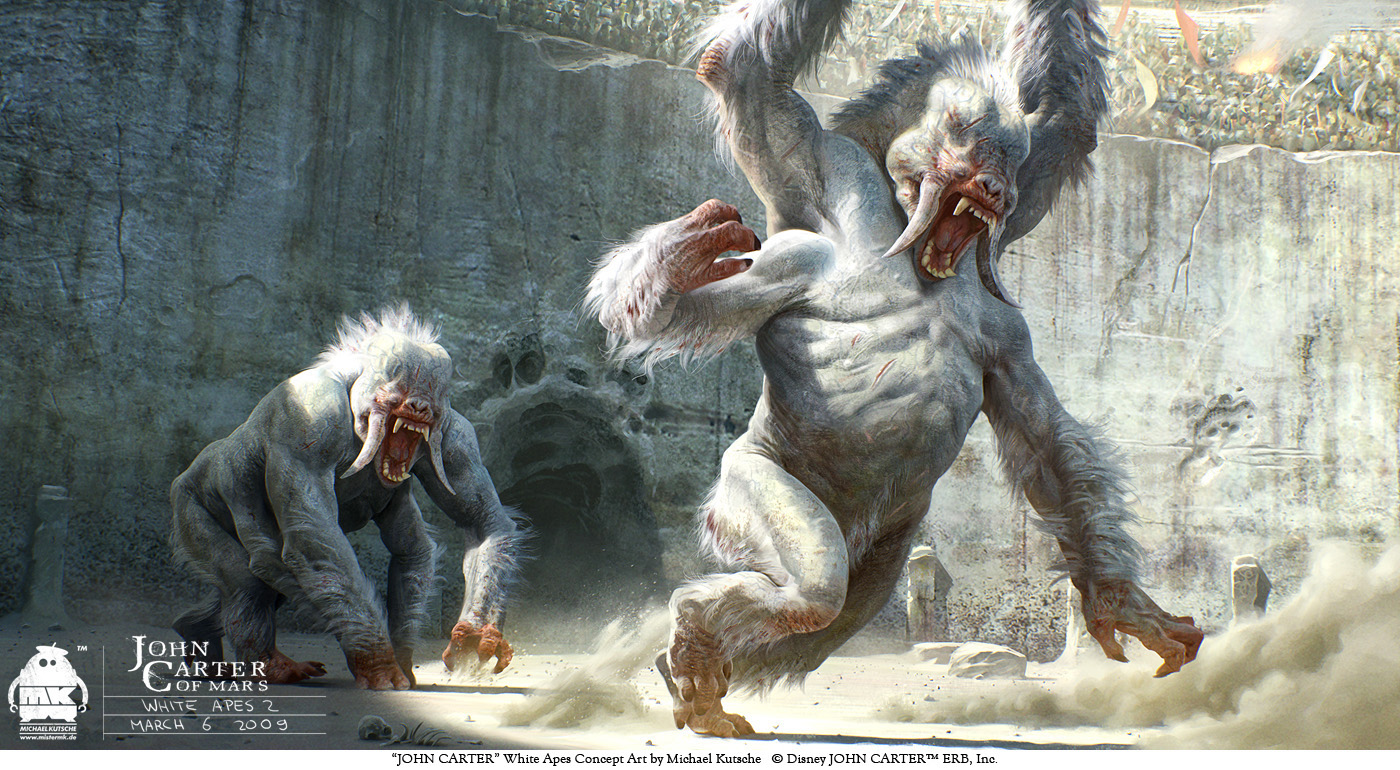 John Carter - White Apes Concept by michaelkutsche