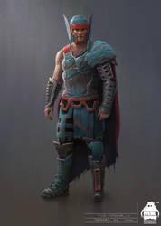 Thor: Ragnarok - Gladiator Thor Concept by michaelkutsche
