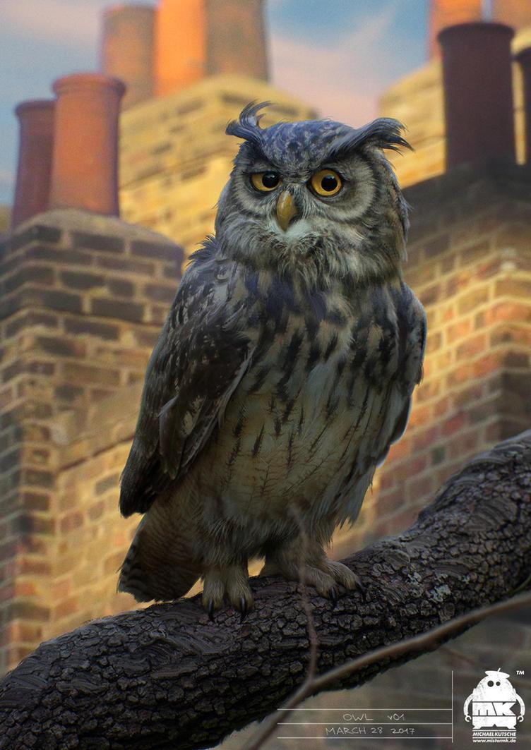 Christopher Robin: Owl Character Design by michaelkutsche