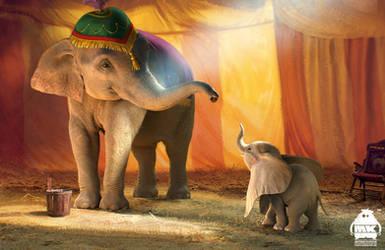 Dumbo: Mrs. Jumbo and Dumbo Character Design