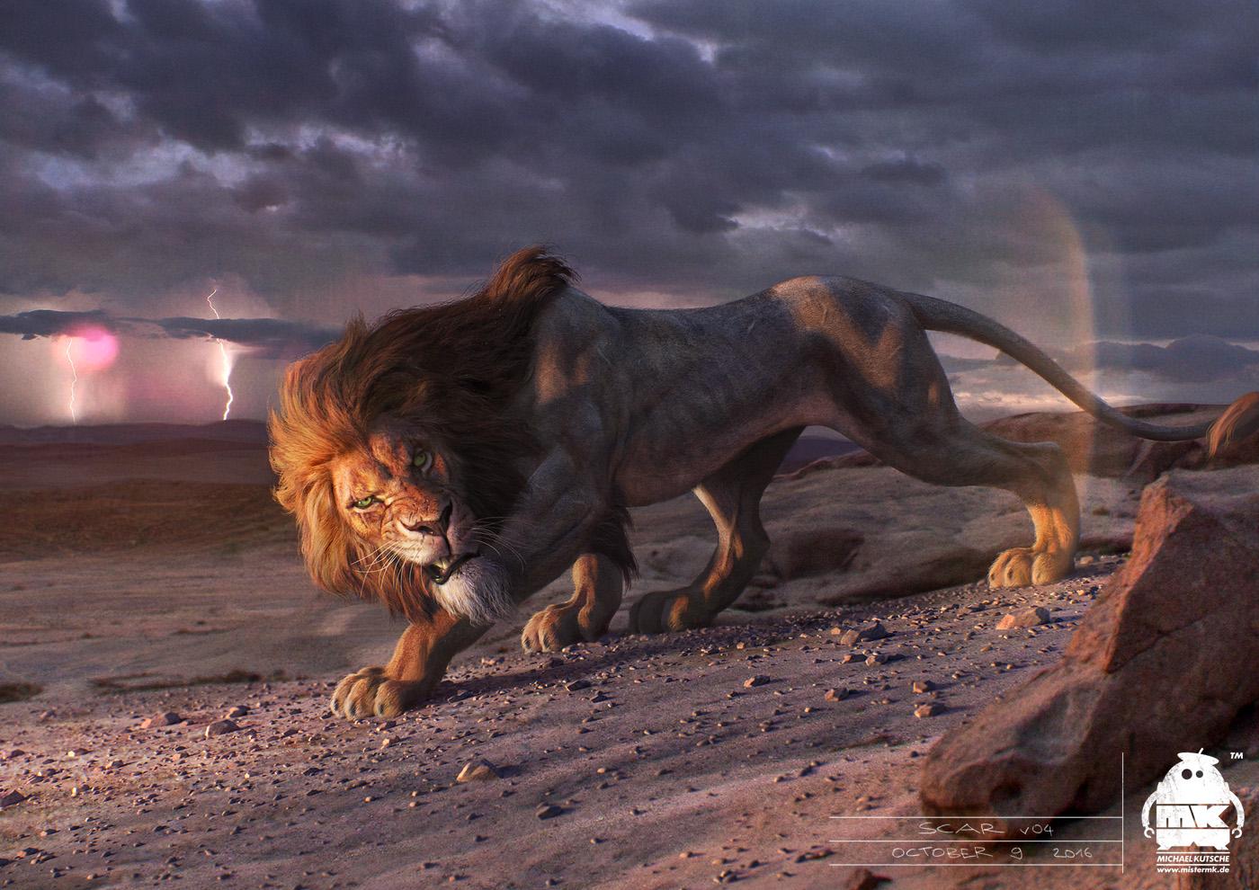 The Lion King Scar Character Design By Michaelkutsche On Deviantart