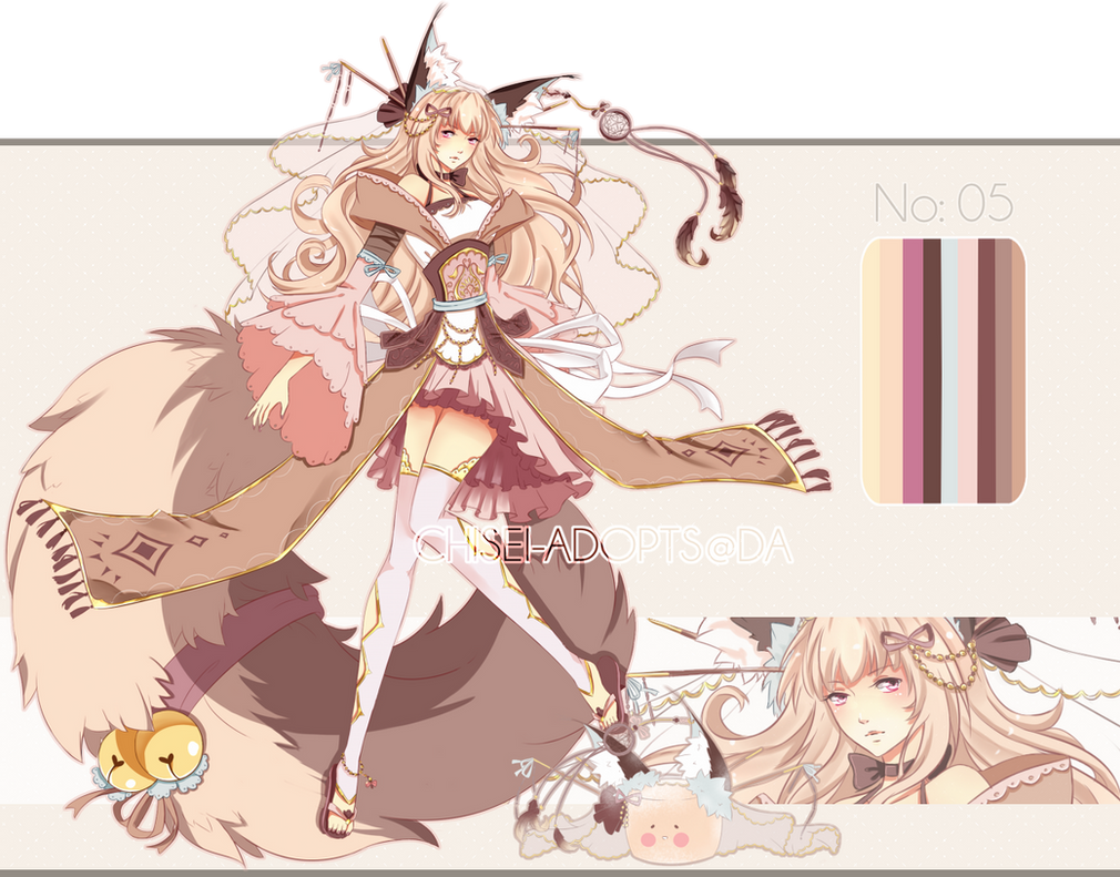 .:CLOSED:. Adoptable - Chidus Species 05 by chisei-adopts