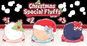 .:CLOSED:. Christmas Special Fluffs