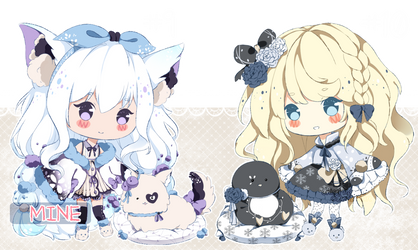 .:CLOSED:. Adoptable - Fluffbebe #9 and #10 by chisei-adopts