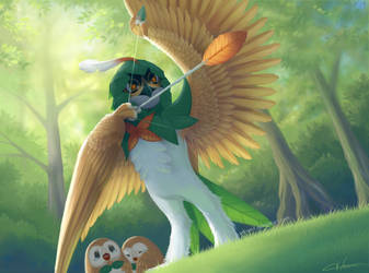 Decidueye to the rescue! by Blunell
