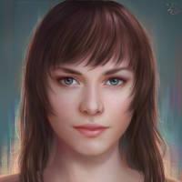 Eva Portrait - 2018 by Blunell