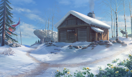 Mountain Hut by Blunell