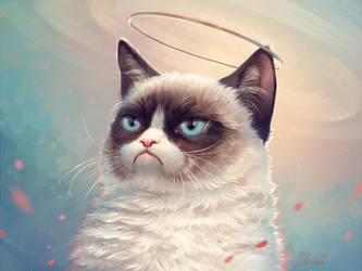 In Memory of Grumpy Cat by Blunell