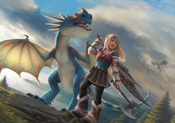 Astrid and Stormfly by Blunell
