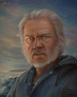 Portrait d'un vieux loup de mer by Blunell