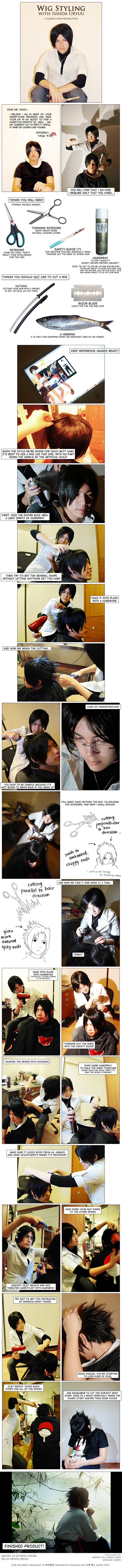 Wig Styling with Ishida Uryuu by behindinfinity