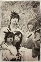 Portrait of Kenshin's Family by behindinfinity