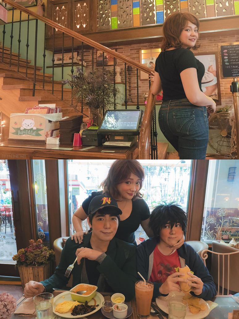 Big Hero  Lucky Cat Cafe Scenes