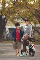 Big Hero 6: Hiro and Tadashi Hamada by behindinfinity