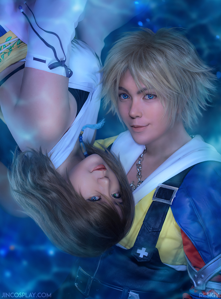 Final Fantasy X: Tidus and Yuna Cosplay by behindinfinity