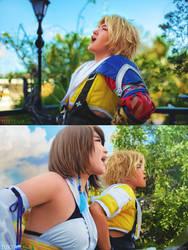 Final Fantasy X: Awkward Laugh Scene by behindinfinity