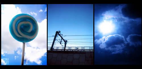 Looking Up At Blue Skies by behindinfinity