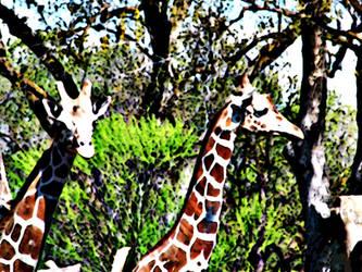 Styalized Giraffe by Synikull