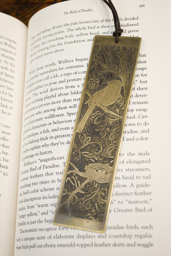 Cardinal Bookmark by danielledemartini