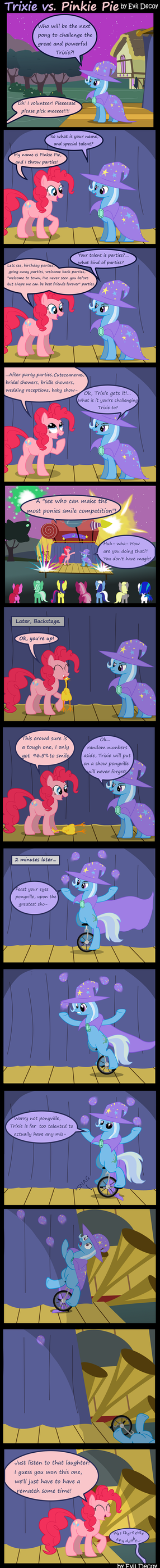 Trixie Vs. Pinkie Pie by Evil-DeC0Y