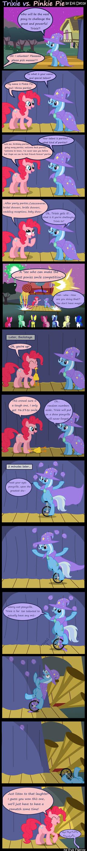Trixie Vs. Pinkie Pie by Evil-DeC0Y